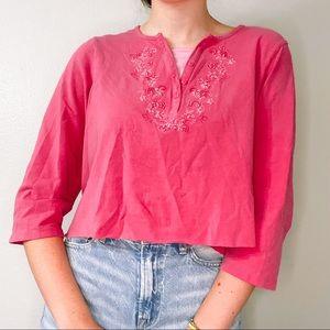 pink floral top